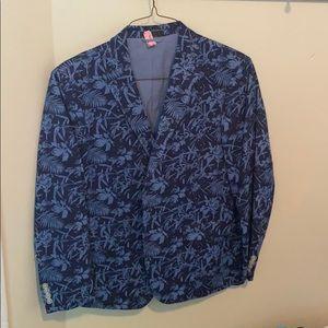 Izod Island Blue Print Jacket 42R